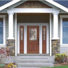 Entry Doors From Pella Fibergl Or Steel
